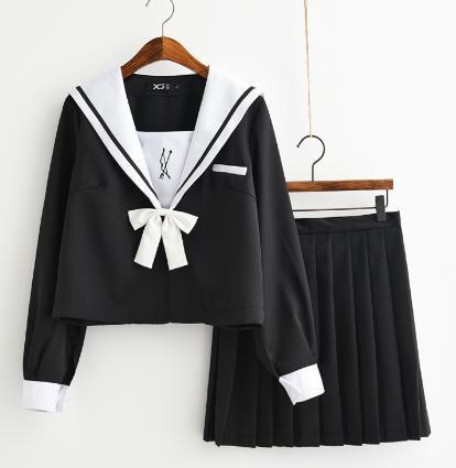 限定50枚 セール  長袖シャツ+ミニスカート+リボ...