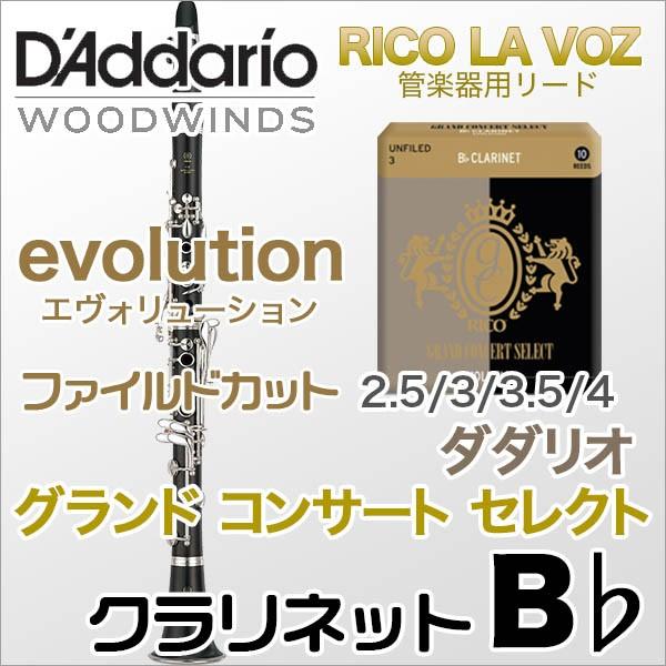 DAddario Woodwinds /RICO クラリネットリードGrand Concert Select Evolution(ファイルド)【ダダリオ ウッドウィンズ/リコ】