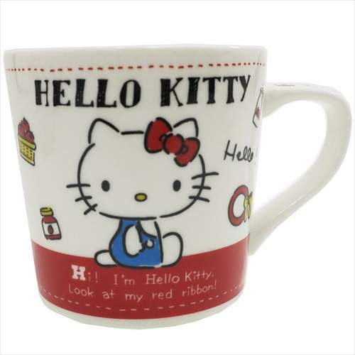 ◆ ハローキティ 陶器製 マグ/レッド マグカップ ...