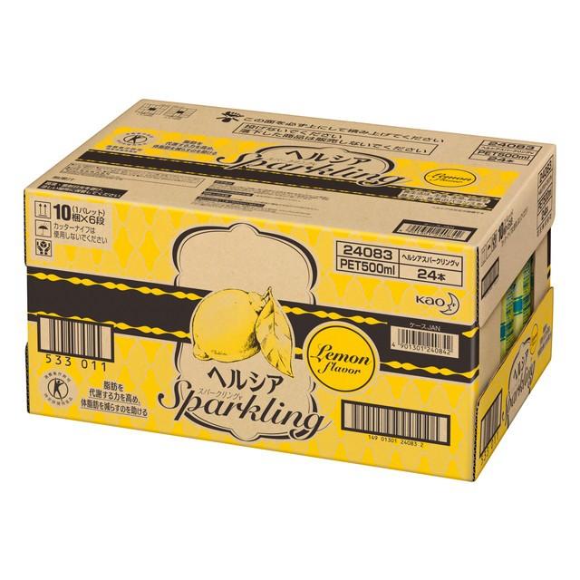 ◆花王 ヘルシア スパークリング レモン 500ml 24...