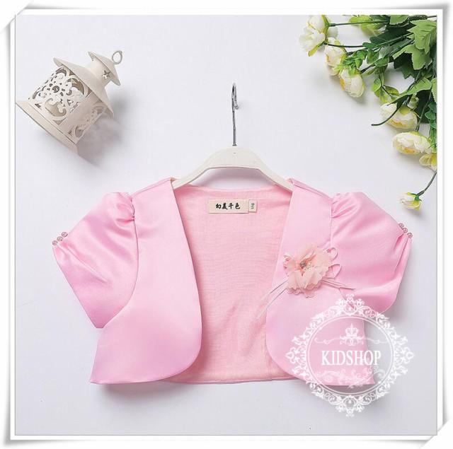 83873e212db5f 女の子子供服 シンプルボレロ キッズフォーマル 羽織物 カーディガン 結婚式 入学式90-160の通販はWowma!(ワウマ) -  masamasa|商品ロットナンバー:300703612