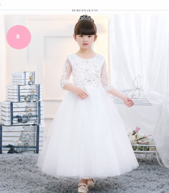 子供ドレス 結婚式リングガールドレス 女の子ウ...