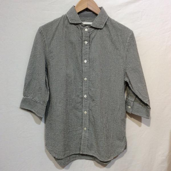 ホワイト 五分袖シャツ 2018061726 黒 / ブラック...