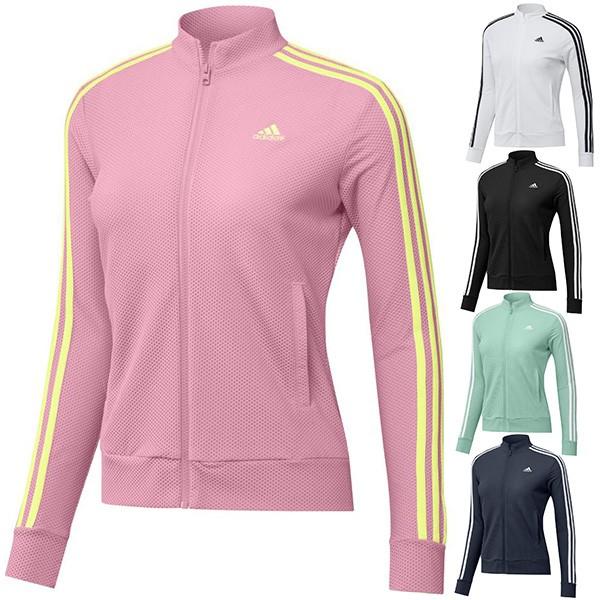 30%オフ アディダス ゴルフ ジャケット 長袖 レディース パーカー フルジップ スリーストライプ エアロレディ ポケット adidas golf 白