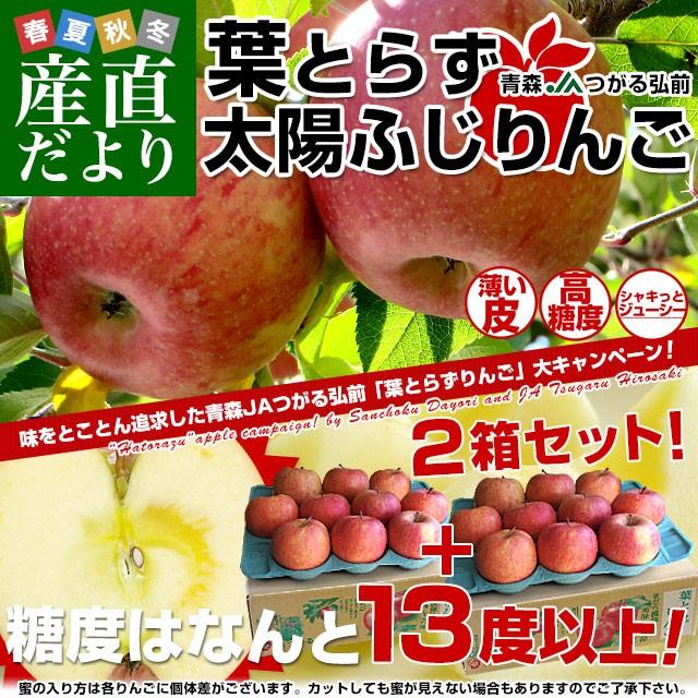 青森県より産地直送 JAつがる弘前 葉とらず太陽ふ...