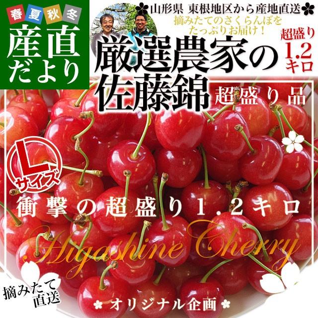 山形県より産地直送 厳選農家のさくらんぼ佐藤錦 ...