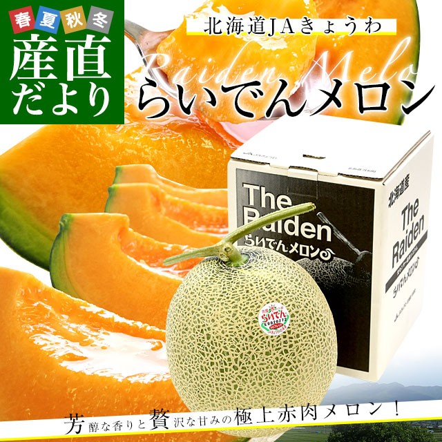 送料無料 北海道産 JAきょうわ らいでんメロン...