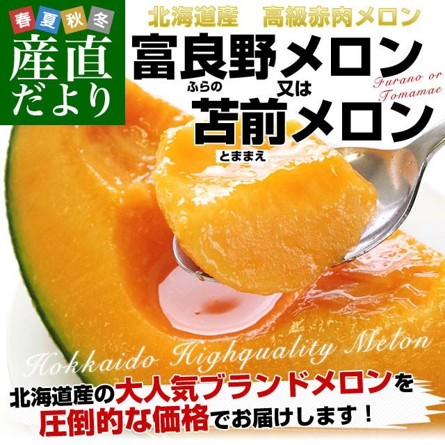 北海道産 北海道赤肉メロン 優品以上 超大玉4玉(...