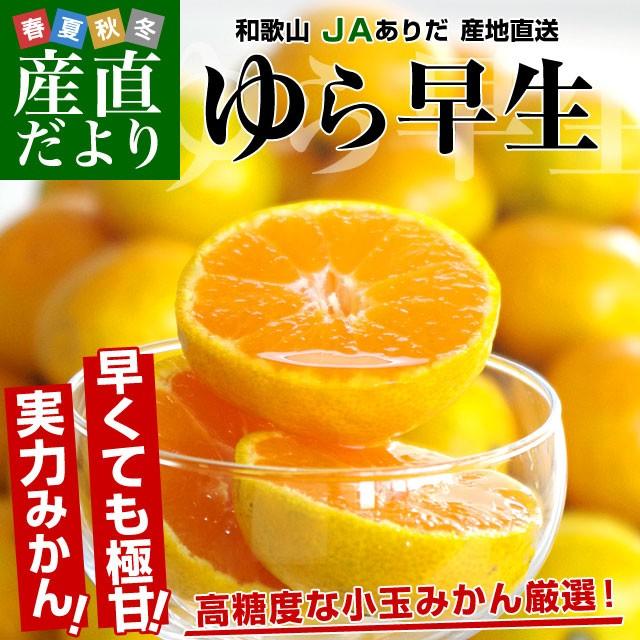 送料無料 和歌山県より産地直送 JAありだ ゆら早...