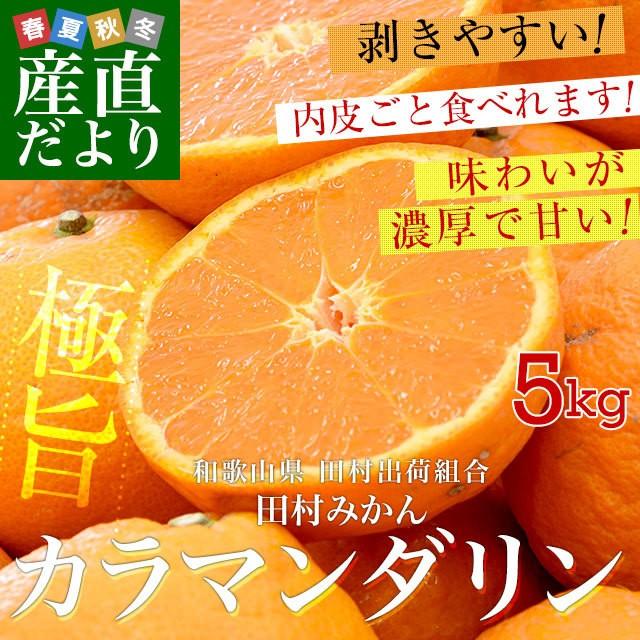 和歌山県より産地直送 田村出荷組合 カラマンダリ...
