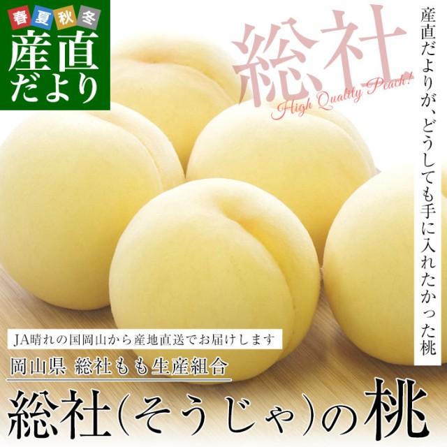 岡山県から産地直送 JA晴れの国岡山 総社もも生産...