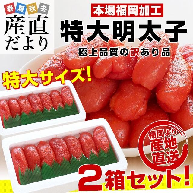 福岡県より直送 福岡加工 辛子明太子 特大サイズ ...