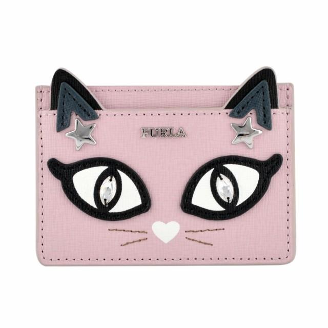 フルラ FURLA カードケース 名刺入れ ネコ 猫 キ...
