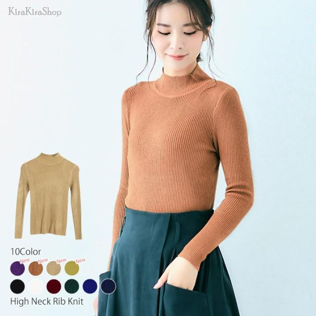 冬新作 ニット セーター やわらかリブ編み 長袖 ...
