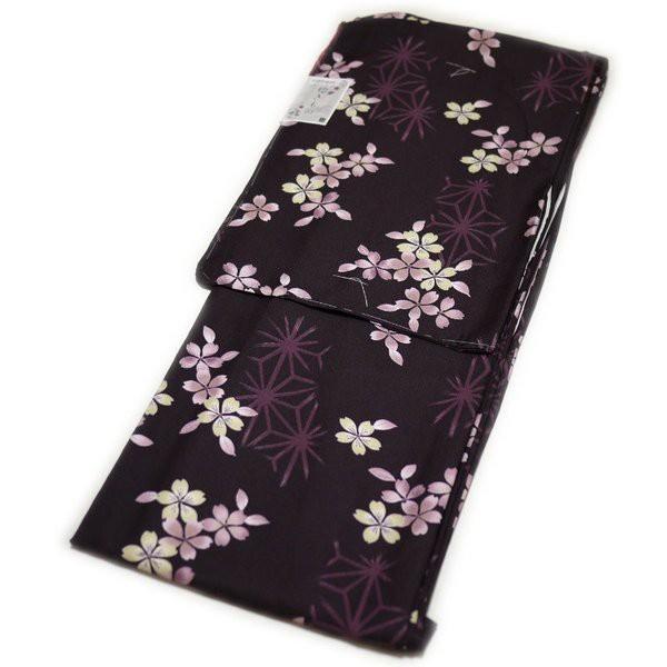 着物 洗える仕立て上がり小紋(袷:紫色:桜柄:...