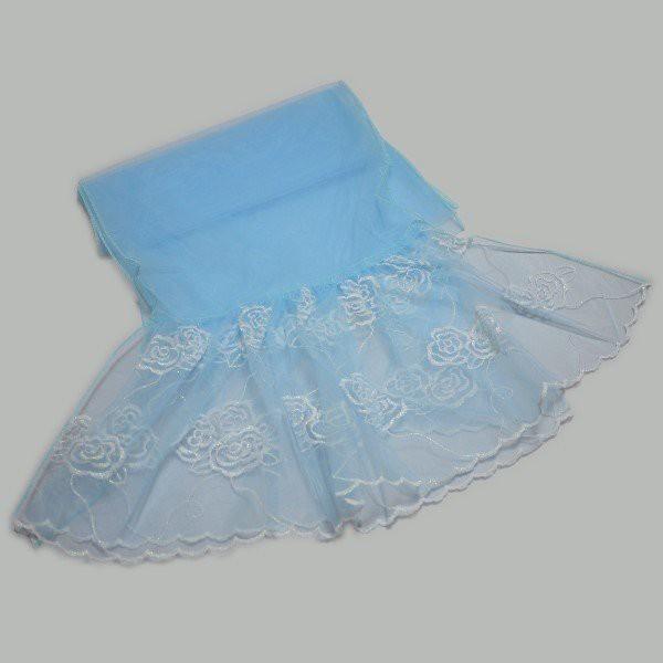 【訳あり】浴衣 レディース 飾り帯 ふわふわ ラメ入り 薔薇 バラ ばら(ブルー)【ゆうパケットOK】