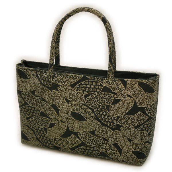 和装バッグ 扇面柄 印伝 印傳 バッグ 和装小物 き...