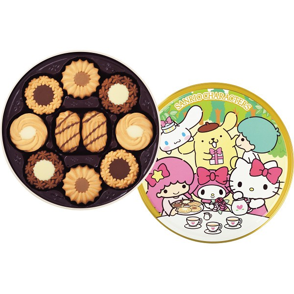 洋菓子 スイーツトルテクッキー缶(サンリオキャ...