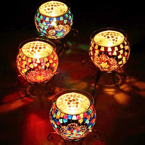 照明 アロマランプ モザイク ガラス ユルドゥズ テーブルランプ コード式 ( アロマ ライト テーブル 卓上 ランプ アロマライト テーブル