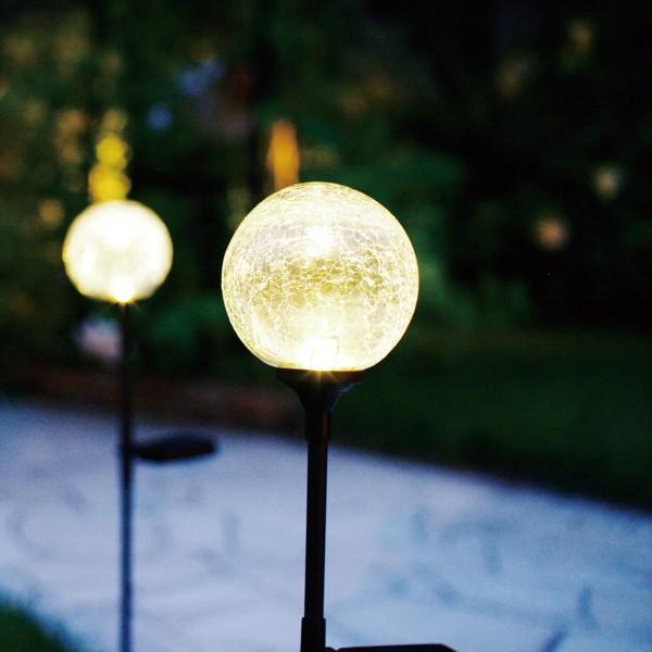 ガーデンライト ソーラーライト クラックボール ...