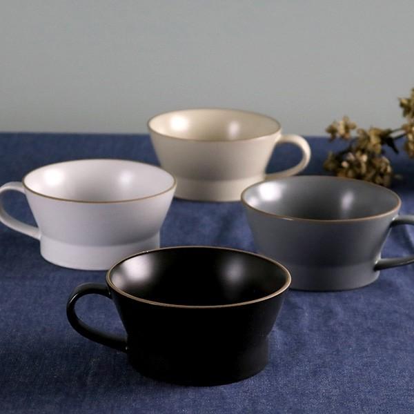 スープカップ エッジライン 持ち手付き 陶器 食器...