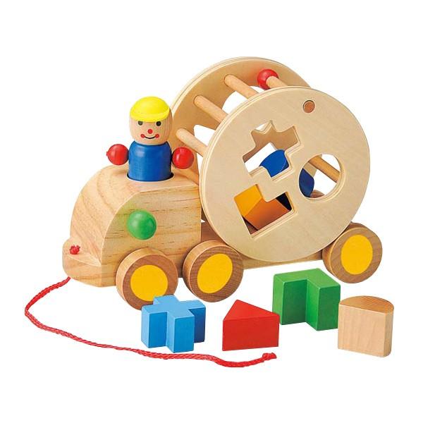 おもちゃ 知育玩具 木製 ベビー パズルトラック 1...