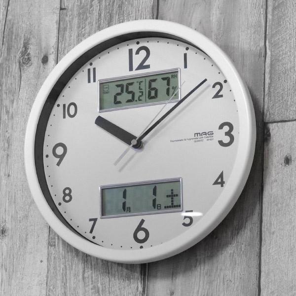 掛け時計 多機能時計 温湿度計 ダブルメジャー (...