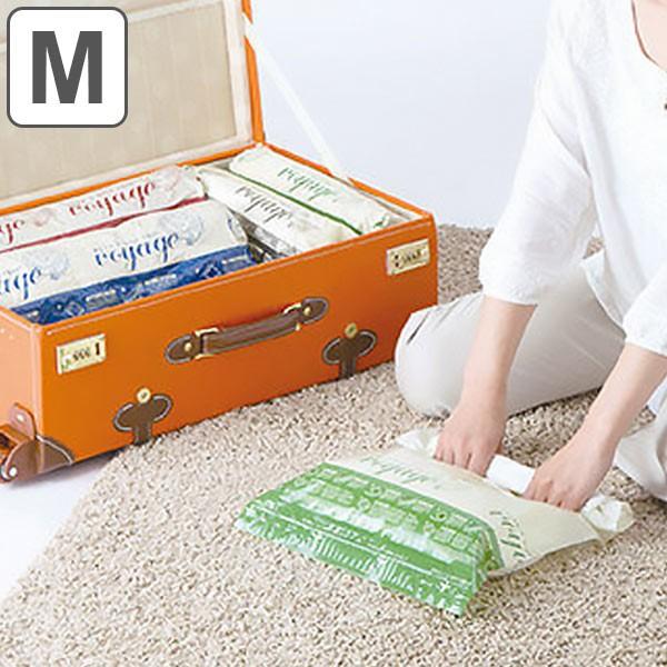衣類圧縮袋 押すだけ衣類圧縮パック M 2枚入り (...