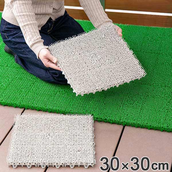 人工芝 30x30cm ジョイント式 日本製 1枚 ( 芝生...