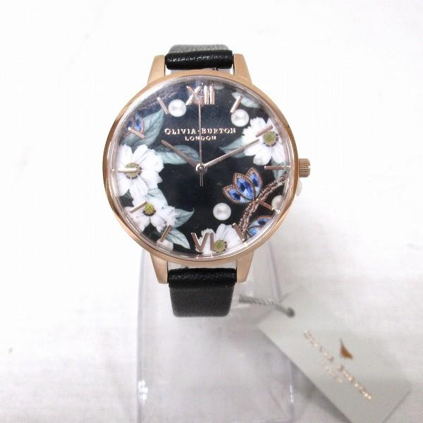 9afe5c16a2 オリビアバートン フラワー ブラックダイヤル レディース 腕時計 ブレスセット 時計 腕時計 レディース 未使用品【