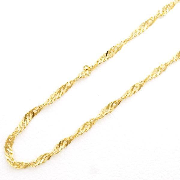 K18 18金 YG イエローゴールド ネックレス 約44cm...