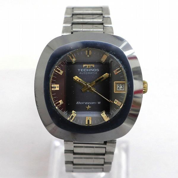 テクノス ボラゾン7 自動巻 グレー文字盤 時計 腕...