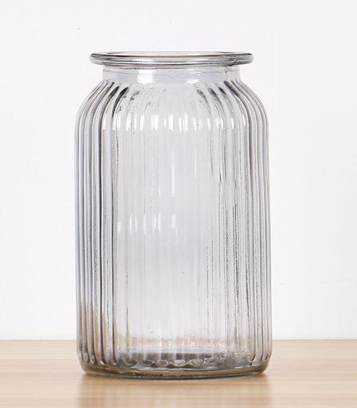 フラワーベース 花瓶 シンプル レトロ風 ガラス製...