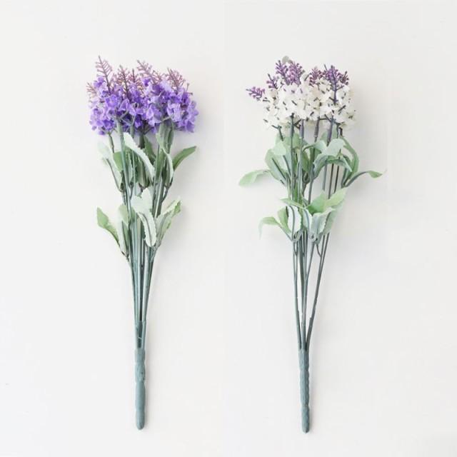 【訳あり】造花 ラベンダー 小さめの花 2束セット...
