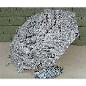 折り畳み傘 英字新聞風 晴雨兼用