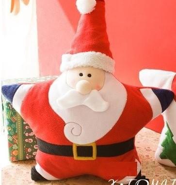 クッション お星さま型サンタさん ユニーク