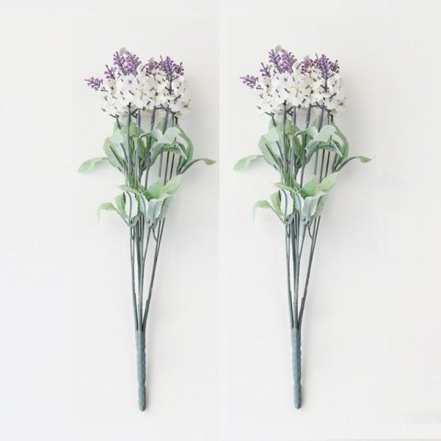 造花 ラベンダー 小さめの花 2束セット (ホワイト...