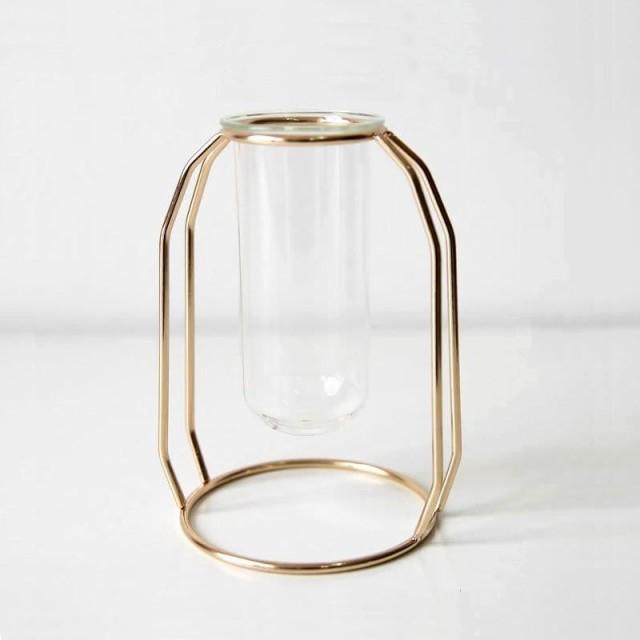 フラワーベース 試験管風 ガラス製 花瓶モチーフ...