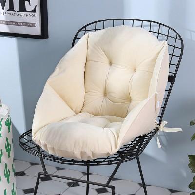 クッション 背もたれ付き 立体的 椅子用 無地 ふ...