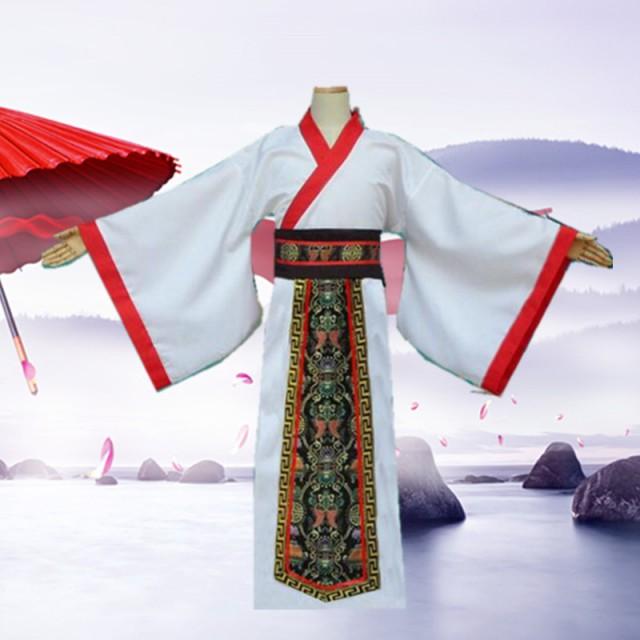 コスプレ チャイナ服 中国伝統柄 メンズ ロング ...