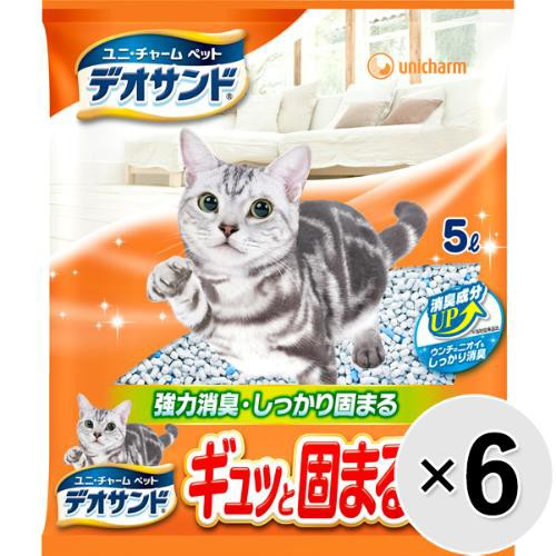 【ケース販売】デオサンド ギュッと固まる紙砂 5L...
