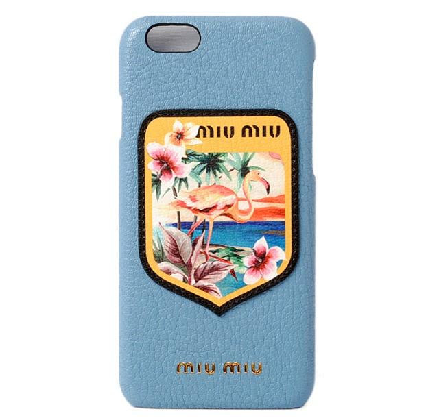 ミュウミュウ iPhone 6 ケース/6sケース/ miumiu ...