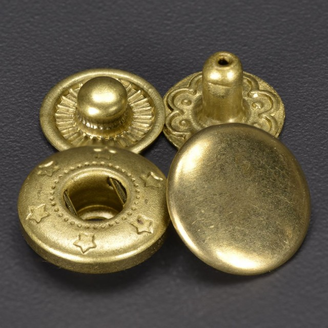 スナップボタン 真鍮 アンティーク調 10mm[411845...