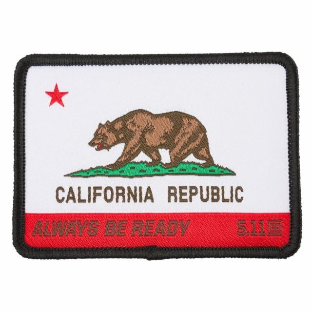 5.11 タクティカル カリフォルニア州旗 ベアフラ...