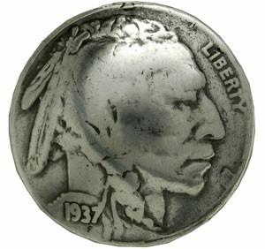 コインコンチョ インディアンヘッド 5セント レプ...