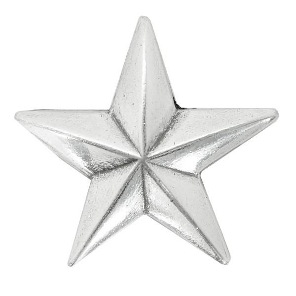 コンチョ 星 アンティーク調 合金 [ シルバー/19m...