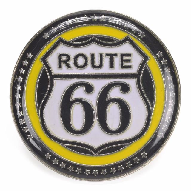 ピンバッジ Route66 ラウンド型 30mm[ha000583300...