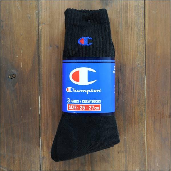 チャンピオン 靴下 3足組み CS-0701 [ ブラック /...