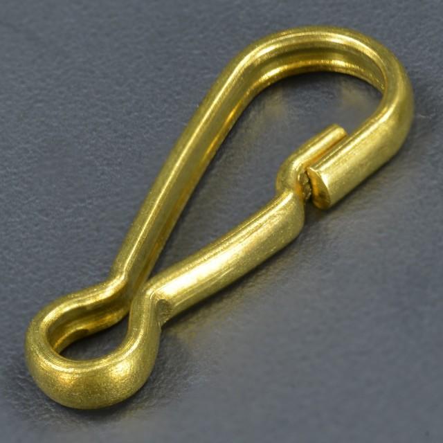 板ナスカン 真鍮パーツ 22mm ナチュラル[n26ra]