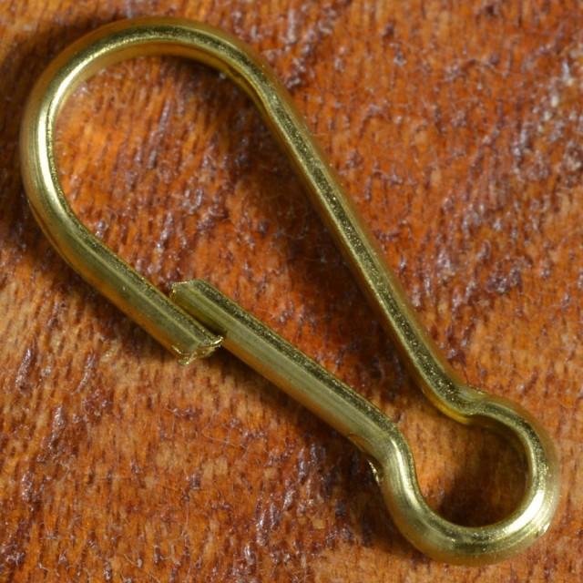 板ナスカン 真鍮パーツ 16mm キーホルダー金具[n2...